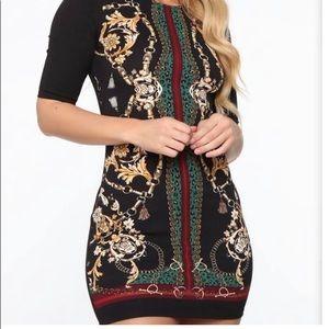 Haute Monde Chain Print mini dress